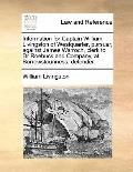 Information for Captain William Livingston of Westquarter, Pursuer, Against James Warroch, C...