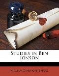 Studies in Ben Jonson