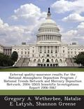 External Quality-Assurance Results for the National Atmospheric Deposition Program / Nationa...