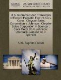 U.S. Supreme Court Transcripts of Record Palmetto Fire Ins Co v. Conn: Chrysler Sales Corpor...