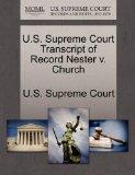 U.S. Supreme Court Transcript of Record Nester v. Church