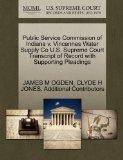 Public Service Commission of Indiana v. Vincennes Water Supply Co U.S. Supreme Court Transcr...