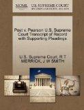 Post v. Pearson U.S. Supreme Court Transcript of Record with Supporting Pleadings