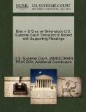 Blair v. U S ex rel Birkenstock U.S. Supreme Court Transcript of Record with Supporting Plea...