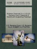 Rodman Chemical Co v. U S U.S. Supreme Court Transcript of Record with Supporting Pleadings