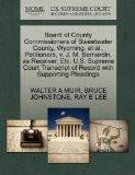 Board of County Commissioners of Sweetwater County, Wyoming, et al., Petitioners, v. J. M. B...
