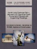Kersh Lake Drainage Dist v. Johnson U.S. Supreme Court Transcript of Record with Supporting ...