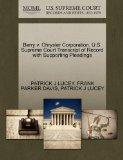 Barry v. Chrysler Corporation. U.S. Supreme Court Transcript of Record with Supporting Plead...