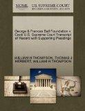 George & Frances Ball Foundation v. Cook U.S. Supreme Court Transcript of Record with Suppor...