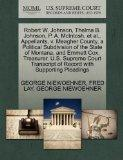Robert W. Johnson, Thelma B. Johnson, P. A. McIntosh, et al., Appellants, v. Meagher County,...