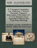 F. P. Newport Corporation, Ltd., Petitioner, v. Paul W. Sampsell, Trustee in Bankruptcy of t...