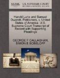Harold Lurie and Samuel Dworett, Petitioners, v. United States of America. U.S. Supreme Cour...