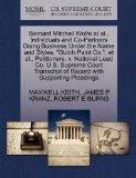 Bernard Mitchell Wolfe et al., Individuals and Co-Partners Doing Business Under the Name and...