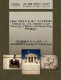 Laverl Johnson et al. v. Union Pacific Railroad Co. U.S. Supreme Court Transcript of Record ...