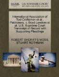 International Association of Tool Craftsmen et al., Petitioners, v. Boyd Leedom et al. U.S. ...