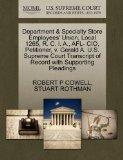 Department & Specialty Store Employees' Union, Local 1265, R. C. I. A., AFL- CIO, Petitioner...