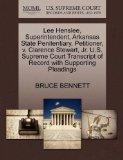Lee Henslee, Superintendent, Arkansas State Penitentiary, Petitioner, v. Clarence Stewart, J...