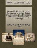 Howard G. Pinder, Sr., et al., Petitioners, v. United States. U.S. Supreme Court Transcript ...