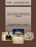 Ford v. Ford U.S. Supreme Court Transcript of Record with Supporting Pleadings