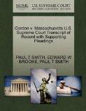 Gordon v. Massachusetts U.S. Supreme Court Transcript of Record with Supporting Pleadings