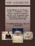 United States ex rel. Edgar I. Shott, Jr., Petitioner, v. Dan Tehan, Sheriff of Hamilton Cou...