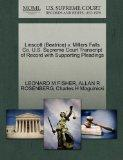 Linscott (Beatrice) v. Millers Falls Co. U.S. Supreme Court Transcript of Record with Suppor...