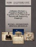 Zaffarano (Michael) v. Fitzpatrick (Walter) U.S. Supreme Court Transcript of Record with Sup...