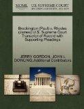 Brockington (Paul) v. Rhodes (James) U.S. Supreme Court Transcript of Record with Supporting...