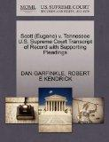 Scott (Eugene) v. Tennessee U.S. Supreme Court Transcript of Record with Supporting Pleadings