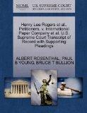 Henry Lee Rogers et al., Petitioners, v. International Paper Company et al. U.S. Supreme Cou...