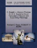 C. Burglin v. Kleppe (Thomas S.) U.S. Supreme Court Transcript of Record with Supporting Ple...