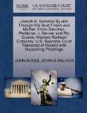 Joseph B. Sanchez By and Through His Next Friend and Mother, Elvira Sanchez, Petitioner, v. ...