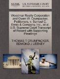Woodmar Realty Corporation and Owen W. Crumpacker, Petitioners, v. Samuel C. Ennis & Company...