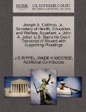 Joseph A. Califano, Jr., Secretary of Health, Education, and Welfare, Appellant, v. John A. ...