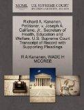 Richard A. Kananen, Petitioner, v. Joseph A. Califano, Jr., Secretary of Health, Education a...