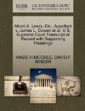 Albert A. Lewis, Etc., Appellant v. James L. Cowen et al. U.S. Supreme Court Transcript of R...