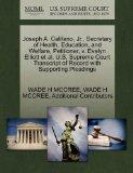 Joseph A. Califano, Jr., Secretary of Health, Education, and Welfare, Petitioner, v. Evelyn ...