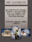 Riss International Corporation, Petitioner, v. George P. Baker et al. U.S. Supreme Court Tra...
