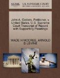 John A. Geders, Petitioner, v. United States. U.S. Supreme Court Transcript of Record with S...