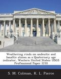 Weathering Rinds on Andesitic and Basaltic Stones As a Quaternary Age Indicator, Western Uni...