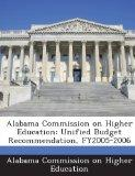 Alabama Commission on Higher Education: Unified Budget Recommendation, FY2005-2006