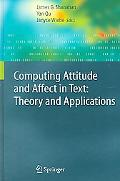 Computing Attitude And Affect in Text Theory And Applications