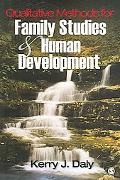 Qualitative Methods for Family Studies & Human Development