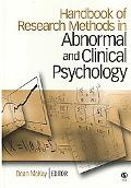 Handbook of Research Methods in Abnormal and Clinical Psychology