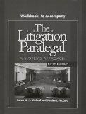 Litigation Paralegal: A Systems Approach Student W