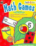 Full-color Math Games Grades Pre K-K