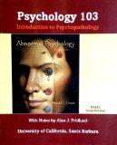 Abnormal Psychology (Psych 103, UCSB) Introduction to Psychopathology (Paperback)