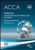 ACCA - F4 Corporate and Business Law (Global): Revision Kit