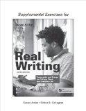 Supplemental Exercises for Real Writing with Readings: Paragraphs and Essays for College, Wo...