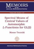 Spectral Means of Central Values of Automorphic L-Functions for GL(2)